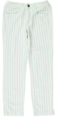 Splendid Low-Rise Striped Jeans