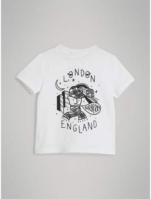 Burberry Night Print Cotton T-shirt
