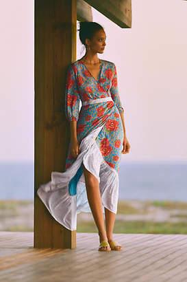 Anthropologie Farm Rio for Susanne Maxi Wrap Dress