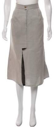 Calvin Klein Collection Distressed Midi Skirt