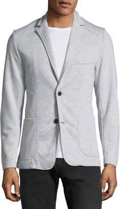 Civil Society Men's Two-Button Knit Blazer, Gray