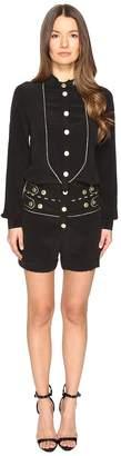 Pierre Balmain Embellished Button Playsuit Women's Jumpsuit & Rompers One Piece