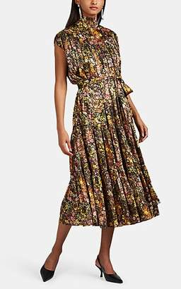 Co Women's Gathered Floral Silk Belted Dress