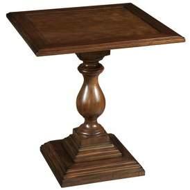 Hekman Vintage European Pedestal End Table