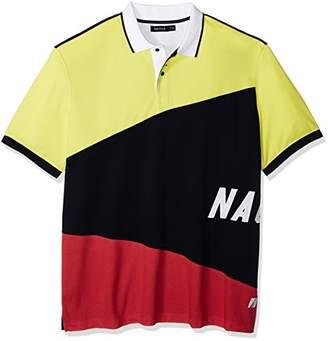 Nautica Men's Big and Tall Short Sleeve Slim Fit Fashion Print Polo Shirt
