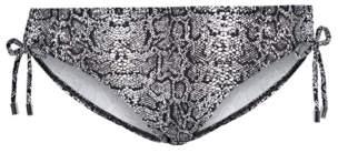 Black Animal Print Metallic Detail High Leg Bottoms