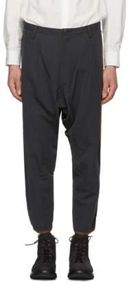 Ziggy Chen Black Oversized Side Stripe Trousers