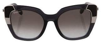 Salvatore Ferragamo Colorblock Cat-Eye Sunglasses