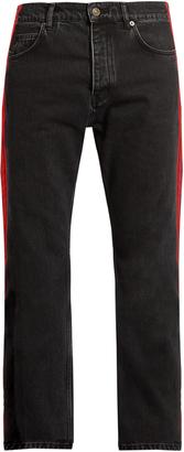 BALENCIAGA Side-striped straight-leg jeans $565 thestylecure.com