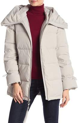 Cole Haan Quilted Hooded Puffer Coat