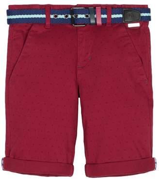 Ted Baker Girls Burgundy Printed Chino Shorts - Purple