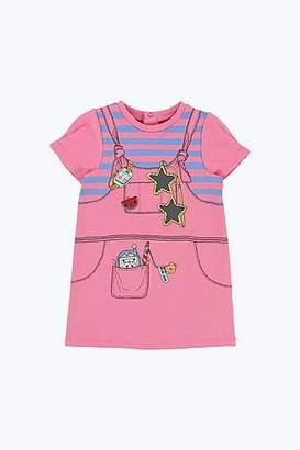 LITTLE MARC Tromp-L'Oeil Cap Sleeve Dress