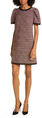 Kate Spade Puff Sleeve Tweed Shift Dress