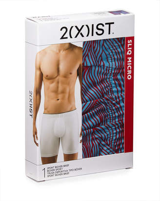 2xist Men's Sliq Micro Sport Long-Leg Boxer Briefs