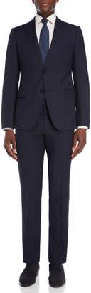 Armani Collezioni Navy Tonal Check Wool Suit