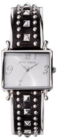 Betsey johnson studded half-bangle watch