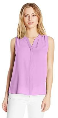 NYDJ Women's Size Sleeveless Pintuck Blouse