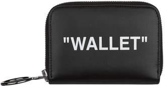 Off-White Off White Leather Slogan Wallet