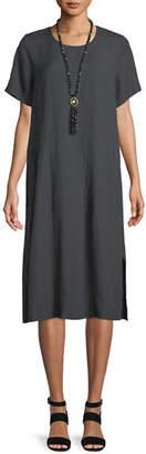 Eileen Fisher Organic Linen-Blend Shift Dress
