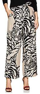 Valentino Women's Tiger-Print Silk Georgette Pants