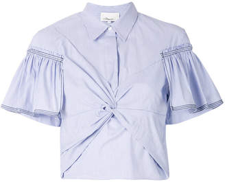 3.1 Phillip Lim short-sleeve gathered shirt