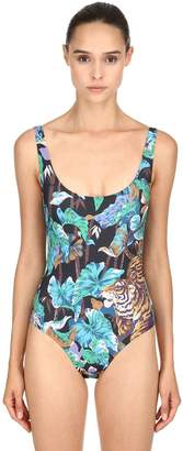 Kenzo Bamboo Tiger Printed One Piece Swimsuit