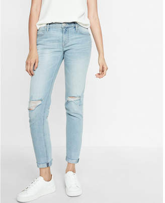 Express mid rise original girlfriend jeans