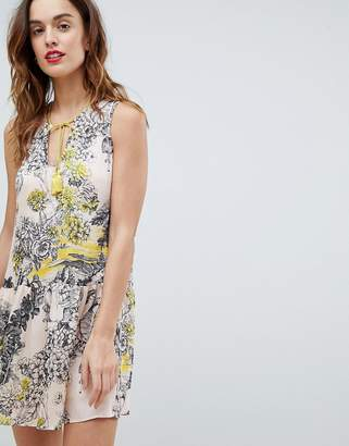 Sisley Printed Drop Hem Dress