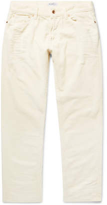 President's Slim-Fit Cropped Cotton-Corduroy Trousers