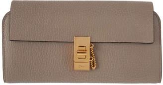 Chloé Grey Long Drew Flap Wallet
