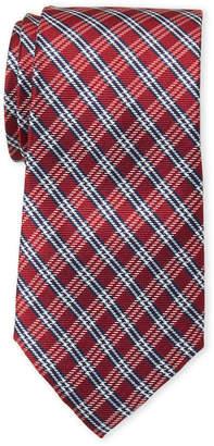 Tommy Hilfiger Red Plaid Silk Tie