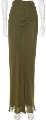 John Galliano Silk Maxi Skirt