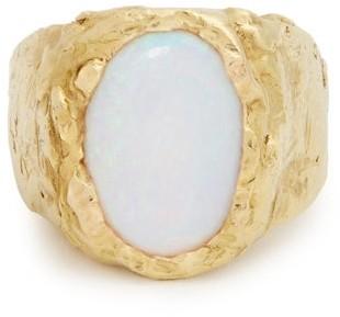 Orit Elhanati - Signetura Opal & Yellow Gold Ring - Womens - Gold