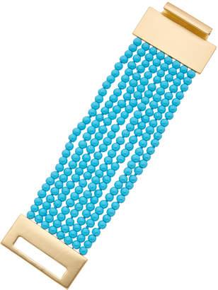 Kenneth Jay Lane 22K Plated Resin Bracelet