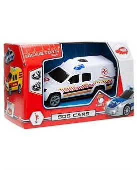 Dickie Toys Dickie Light & Sound Sos Cars Assorted (Aus Design)