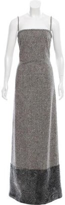 Brooks Brothers Wool Fur-Trimmed Dress $1,295 thestylecure.com