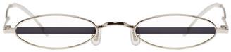 Gentle Monster Silver and Purple Stripe Vector Sunglasses