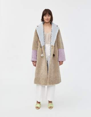 Saks Potts Febbe Pastel Shearling Coat