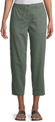 Eileen Fisher Soft Organic Twill Cropped Taper Pants, Petite