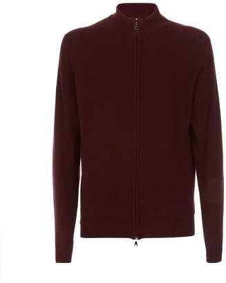 Derek Rose Finley Cashmere Zip Front Sweater