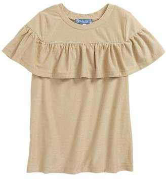Truly Me Metallic Ruffle Top (Big Girls)