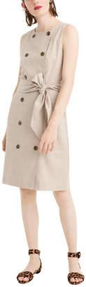 J.Crew Linen-Blend Shift Dress