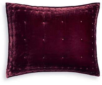 Martha Stewart Collection Tufted Velvet Standard Sham, Created for Macy's