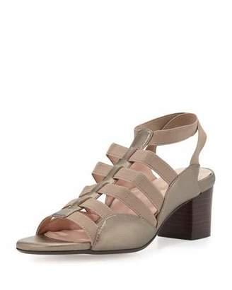 Taryn Rose Reesa Caged Chunky-Heel Sandal, Quartz $230 thestylecure.com