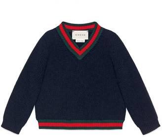 Baby cashmere sweater with Web $320 thestylecure.com