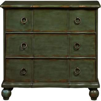 Generic Green Distressed Drawer Chest