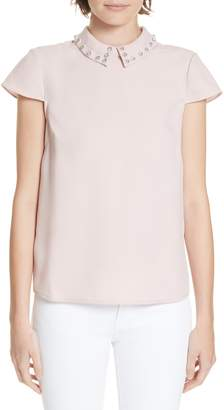 Ted Baker Alyanaa Embellished Collar Top