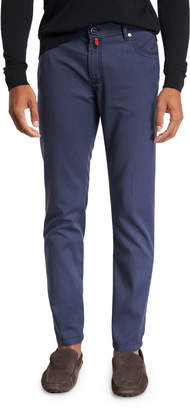 Kiton Men's Washed Wool Straight-Leg Pants