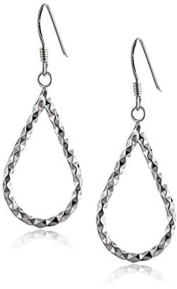 Sterling Faceted Teardrop Earrings