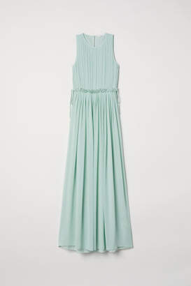 H&M Long Chiffon Dress - Green